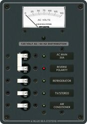 Traditional Metal Panel - Ac Main + 3 Positions, Ac Voltmeter
