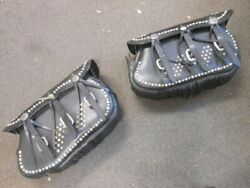 Vintage Motorcycle Studded Indian Head Concho Tassel Saddlebags Indian Chief