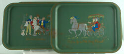 4 Vintage 14 Tin Tray A Bicycle Built For Two And Others Clement Souvenir 1950s