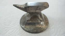 Antique Vintage Anvil Miniature Paperweight Nickle Finish
