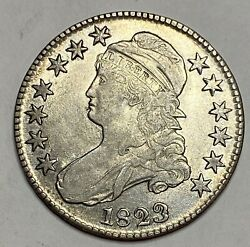 1823 Patched 3 Variety Capped Bust Silver Half Dollar Rare