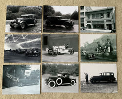 Lot Of 9 8x10 Photos 1920s Stutz/studebaker/wills St Claire/stearns-knight
