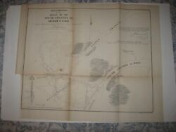 Large Superb Antique 1854 River St Clair Michigan Dated Map Detailed Fine Nr