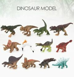 12 pcs Unique Realistic Dinosaur Figures Jurassic Park Dino Toy Assort Lot T Rex $13.99