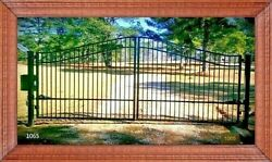 Driveway Gate 1065 Steel - Iron On Sale Now Home Yard Security Tools Fence