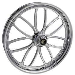 2000-2020 Harley Chrome 26 Inch Front Wheel With Floating Rotors Viper