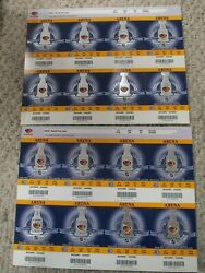2007-2008 Atlanta Thrashers Playoffs Appearance Set Of 16 Tickets Arena