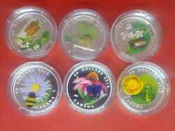Lot Of 6 - 20 Silver Coins/ Canada Venetian Glass -2012 To 2017