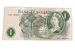 One Pound Bank Note Bank Of England