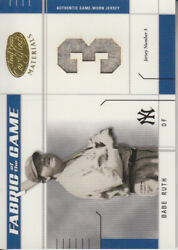 2003 Leaf Certified Materials Fabric/game 15jn Babe Ruth 1/3 Yankees E10618