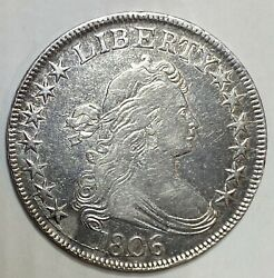 1806 Pointed 6 Draped Bust Silver Half Heraldic Eagle Reverse Rare Variety.
