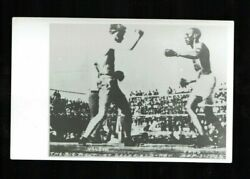 Two 1950and039s Reprints Of 1906 Rppc Battling Nelson Vs Joe Gans In Ring And Synopsis