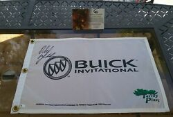 Signed Phil Mickelson Buick Invitational Torrey Pines Pin Flag Global Certified