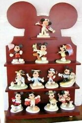 Lenox Disney Mickey For All Seasons 12 Sculpture With Shelf Set New In Box Mouse