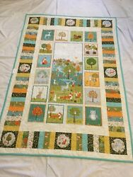 Cot Quilt - Spot The Fox - Australian Hand Crafted Highest Quality Cotton Wool