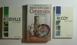Antique Trader Pottery And Porcelain Ceramics By Husfloen + Roseville And Mccoy