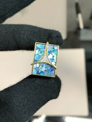 14k Antique Art Deco Yellow Gold Mosaic Opal Ring With Diamonds Vintage