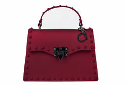 Red Crossbody Purses for Women Studded Bag Rockstar with Studs Jelly Handbags $29.07