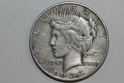 1935-s Net Very Fine Lightly Cleaned 90 Silver Peace Dollar Pdx1352