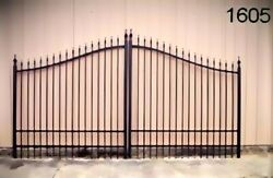 11and039 Or 12and039 Wd Driveway Gate Wrought Iron Style Steel - Iron Yard Home Security