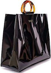 New Designer Plastic purses and handbags Vynyl Clear Transparent Bag Acrylic $16.99