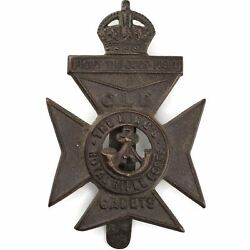 Kings Royal Rifle Corps Krrc Church Lads Brigade Clb Cadets King's Cap Badge Ce8