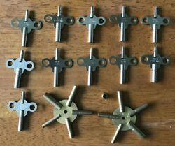 Vintage Grandfather Clock Keys 3.25 3.50 3.75 4.0. Parts - New Old Stock
