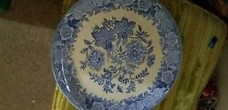 Spode Blue Room Garden Collection Jasmine 12 1/2 Plate Blue And Yellow Floral