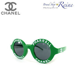 Chanel Pharrell Williams Capsule Collection Round Logo Sunglasses A71314 Green