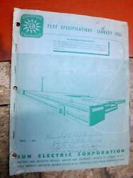 1946-1955 Sun Electric Diagnosis Equipment Test Specifications Manual