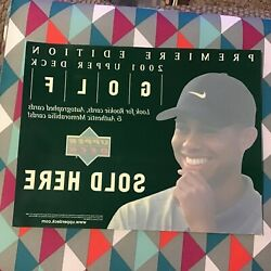 2001 Tiger Woods Upper Deck Premier 11 1/4 X 8 5/8 Window Decal Cling On Rc