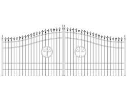 Custom Built Driveway Entry Gate 16ft Wide. Ds Steel Iron Fencing Residential