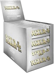 Rizla Silver Ultra Thin Rolling Papers Standard Size 100 Booklets 2 / 4 Ful Box