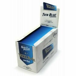 Rizla Thin Blue Rolling Papers Standard Size Regular 100 Booklets 2 / 4 Ful Box