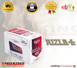 4 Ful Box Rizla Medium Thin Red Rolling Papers Standard Size 100 Booklets