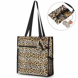 All Purpose Travel Laundry Shopping Zipper Utility Tote Bag Tote Bag Leopard $9.99