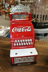 Early 1900s National Cash Register Mod 711 Restored To Coca-cola Soda Theme