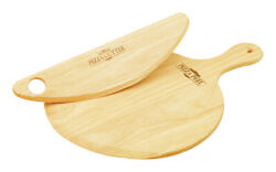 Mountain Woods Pps 13.5  Pizza Peel Andamp Cutter Set