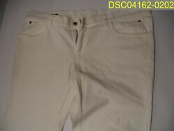Used With Some Marks. White/cream Jean Pants Size 56, 38 Inseam