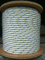 Novatech Xle Halyard Sheet Line Dacron Sailboat Rope 1/2 X 100and039 White/blue/gold