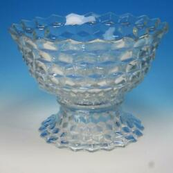 Fostoria Glass - American - Crystal Punch Bowl On Pedestal - 13andfrac12 Inches