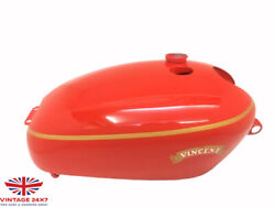 Vincent Hrd Red Painted Aluminium Gas Fuel Petrol Tank |fit For