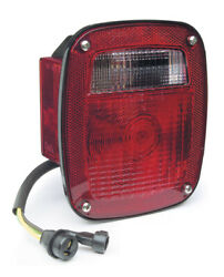 Grote 52812 S/t/t Light Red 3-stud W/side Mkr And Molded Pigtail Lh