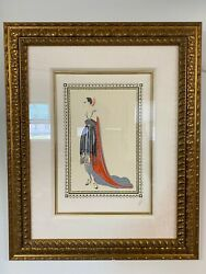 Erte Seductress Limited Edition Lithograph Print 191 In Frame From 1979