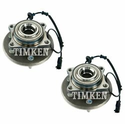 Pair Set 2 Rear Timken Wheel Bearing And Hub Assies Kit For Ford Lincoln 11-14 4wd