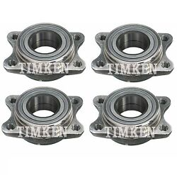 Front And Rear Wheel Bearing Assembly Kit Timken For Audi A6 Quattro Vw Passat Awd
