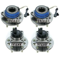 Front And Rear Wheel Bearing And Hub Assembly Kit Timken For Riviera Seville Fwd