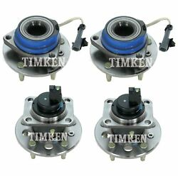 Front And Rear Wheel Bearing And Hub Assembly Kit Timken For Eldorado Seville Fwd