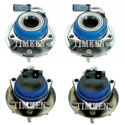 Front And Rear Wheel Bearing And Hub Assembly Kit Timken For Terraza Uplander Fwd