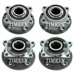 Front And Rear Wheel Bearing And Hub Assembly Kit Timken For Volvo S60 S80 V70 Awd